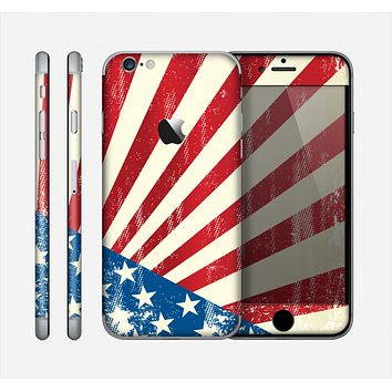 The Vintage Tan American Flag Skin for the Apple iPhone 6