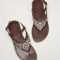 AEO Beaded Thong Sandal - American Eagle Outfitters