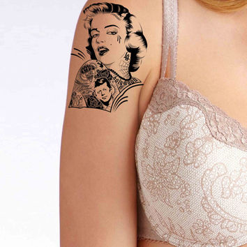Marylin Monroe Tattoo temporary tattoo, Fashion Tattoo,Fake Tattoo,Tattoo Design