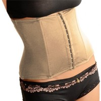 Curvi Waist Cincher Tummy Control Bodyshaper Waistnipper Waist Band (5 Sizes And 2 colors) (S-M Enhanced, Nude)