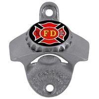 Military, Patriotic & Firefighter - Firefighter Wall Bottle Opener