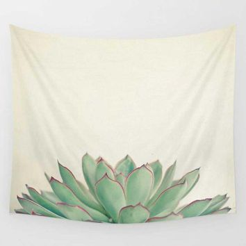 Succulent Silhouette Wall Art Tapestry
