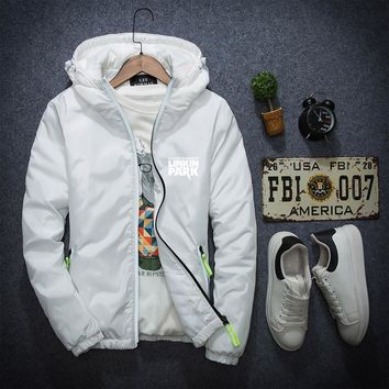 Autumn&Winter Hooded Cotton-Padded Clothes Men High quality Mens Parkas Coat Fashion Printed Letter clothing jacket Plus Size