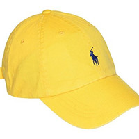 Polo Ralph Lauren Men Pony Logo Adjustable Hat Cap YELLOW