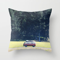 Adventure Van Throw Pillow by Backwoods Stories