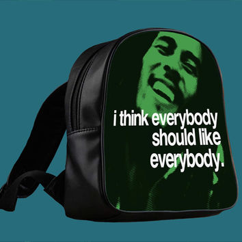 quotes of Bob Marley for Backpack / Custom Bag / School Bag / Children Bag / Custom School Bag *