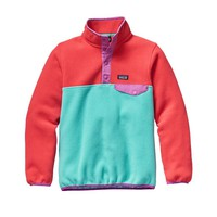 Patagonia Girls' Lightweight Synchilla® Snap-T® Pullover | Howling Turquoise