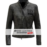 New Han Solo Star Wars Women Stylish Leather Jacket - Valentine Day Gift