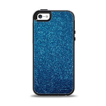The Blue Sparkly Glitter Ultra Metallic Apple iPhone 5-5s Otterbox Symmetry Case Skin Set