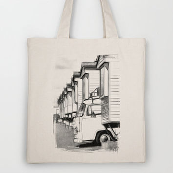 Volkswagen Van Tote Bag by Rainer Steinke