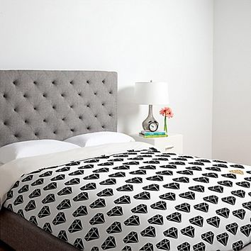 DENY Designs Allyson Johnson Shine Brighter Duvet Cover in Black