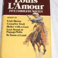 5 complete novels by Louis LAmour HB book Utah Blaine 4 more