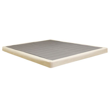 "Classic Brands 4"" Low Profile Instant Foundation - Easy To Assemble Box Spring for Bed Mattress"