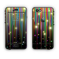 The Falling Neon Color Strips Apple iPhone 6 Plus LifeProof Nuud Case Skin Set