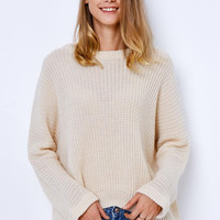 Cupshe All Day Knit High Low Casual Sweater