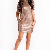 All That Glitters Sequin Dress (Bronze)