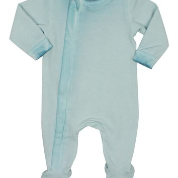 Coccoli Baby Boys' Sky Zipper French Terry Footie