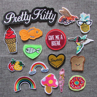 hot sell cartoon loveliness patch hot melt adhesive applique delicacy embroidery patch DIY clothing accessory patch C5101-C5122