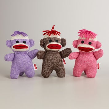 Knit Baby Sock Monkeys, Set of 3 - World Market
