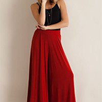 Wide Flare Knit Pants