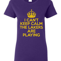 Funny I Can't Keep Calm The Lakers Are Playing T-shirt! Great L.A. Lakers tshirt for any fan Available in ladies, unisex & various sizes