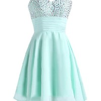 Sunvary Rhinestone Short Cocktail Homecoming Dresses for Girls
