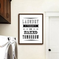 Modern Minimalist Laundry Room Canvas Painting Fresh and Clean Sign Wall Art Posters Prints for Living Room Home Decoration