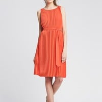Banana Republic Womens Pleated Tie Front Dress