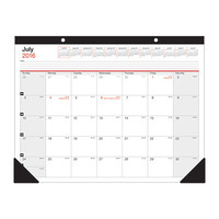 "Office Depot® Brand Large Monthly Desk Pad Calendar, 22"" x 17"", 30% Recycled, July 2016 to June 2017 Item # 225103"