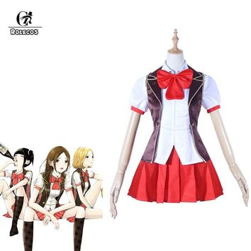 ROLECOS 2018 Summer Japanese New Anime Back street Girls Cosplay Costume Airi Mari Chika School Uniform Cosplay Costume