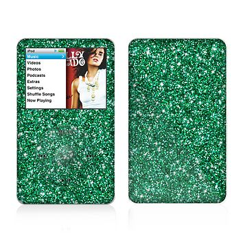 The Green Glitter Print Skin For The Apple iPod Classic