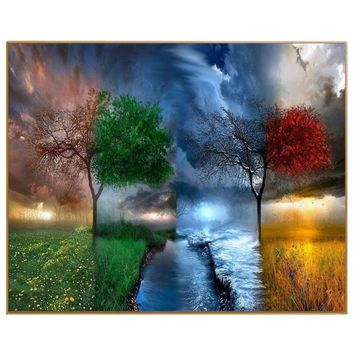 PHKV Hot Sale Diy Pictures By Numbers New Design Canvas Digital Drawing Coloring Oils Painting By Numbers Landscape Wall Art