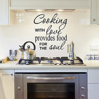 Cooking With Love Wall Decal