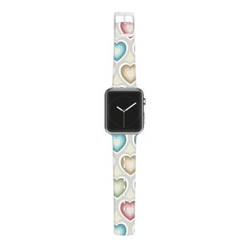 Kess InHouse Julia Grifol 38mm Apple Watch Strap - Non-Retail Packaging - My Hearts/Multicolor