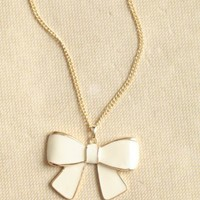 mademoiselle bow necklace at ShopRuche.com
