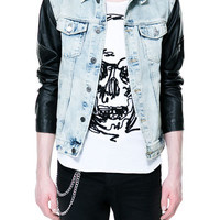 COMBINATION BLEACHED DENIM JACKET - Jackets - Man - ZARA United Kingdom
