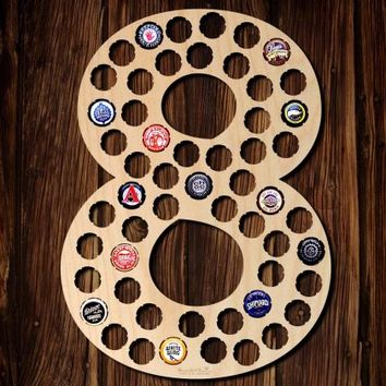 Number Eight Beer Cap Map