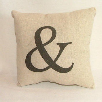 SALE - Ampersand Accent Pillow