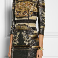 Balmain | Embellished metallic jacquard mini dress | NET-A-PORTER.COM