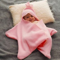 Baby Nappy Soft Cotton Star Shape Blanket