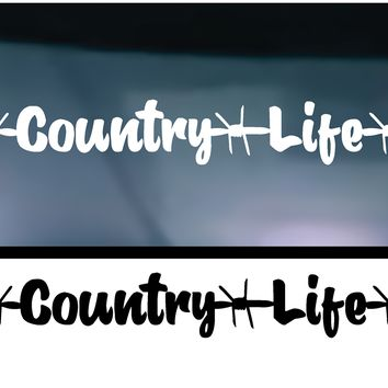 Country Life (Straight) Vinyl Graphic Decal