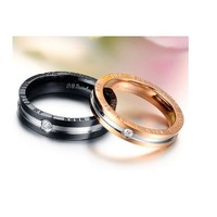 """Wonderful World"" Couples Rings - C-RIN-1040"