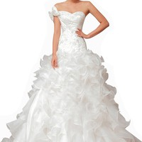 Passat Women's Destination Wedding Dresses -Tea -Length