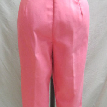 "Vintage 50s High-Waist CIGARETTE PANTS Slacks Rockabilly Waist:30""."