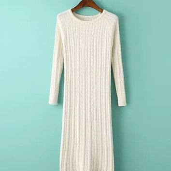 Women Twisted Sweater Dress