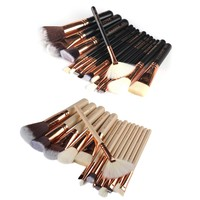 15Pcs/Set Professional Eye Face Makeup Brushes Set Cosmetic Foundation Powder Blusher Lip Eye Shadow Brushes Tool Kit