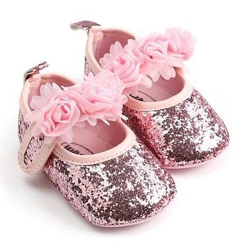 Toddler First Walkers Kid Shoes Baby Girl Glitzy