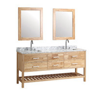"Wyndham Collection Sheffield 80"" Double Bathroom Vanity Set with Mirror"