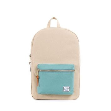 Herschel Supply Co. Settlement Mid-Volume Backpack, Khaki/Seafoam