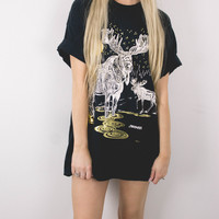 Vintage Moose Gold T Shirt